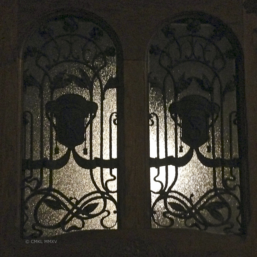 Frontdoor of a residence at night
