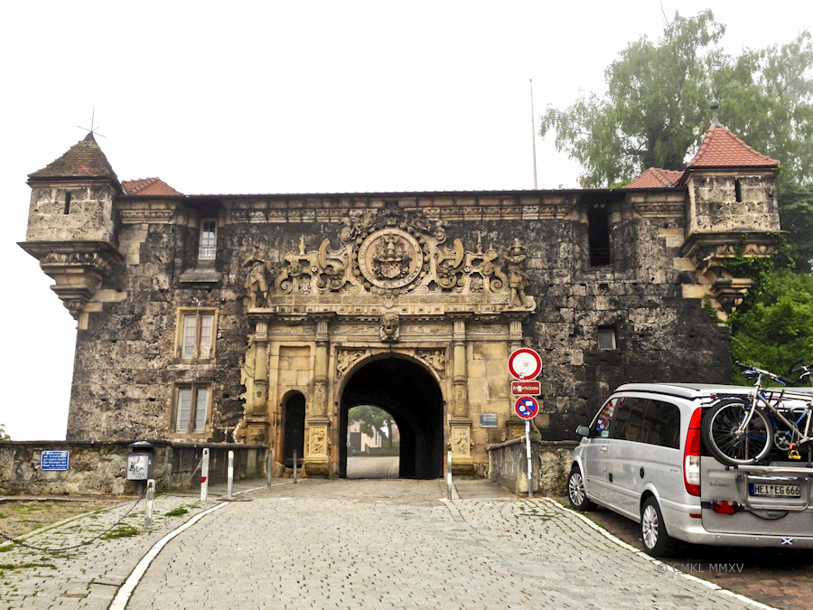 Approaching the gate to the castle quarters on the ridge of the Spitzberg above Tübingen