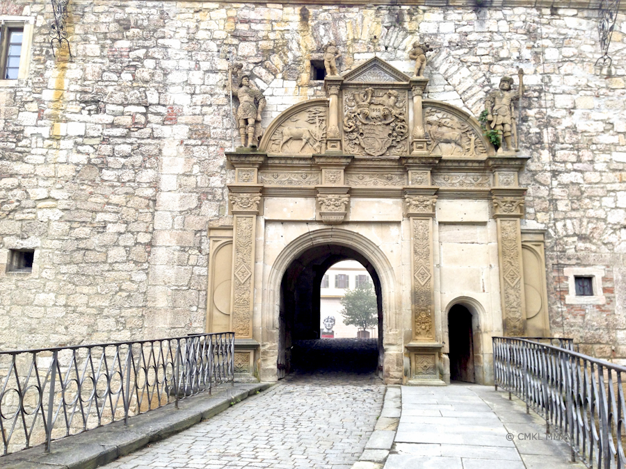 The secong portal, gateway into the castle courtyard quadrangle