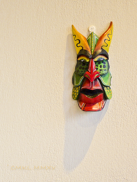 Small traditional mask carved and painted by María Fernández parents