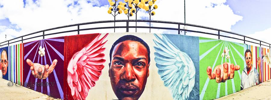 mural at Oak Street Beach