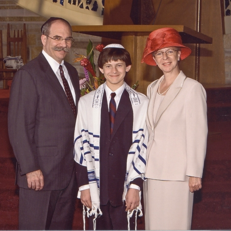 At Synagog for our nephew Jeff's Bar Mitzvah