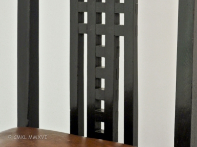 Detail of Mackintosh chair back