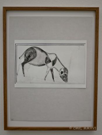 """Joseph Beuys """"Weidendes Schaf"""" 1948"""