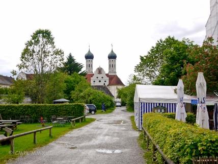 A first glimpse of the Benediktbeuern onion doms