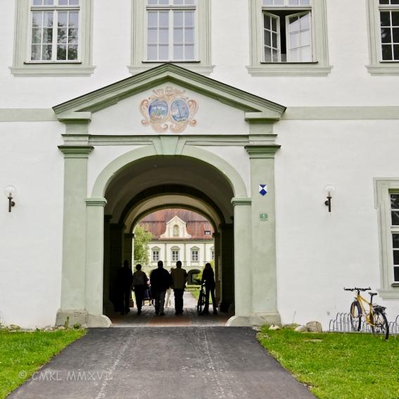Entry into the monastery quadrangle