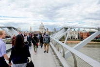 ... and walked toward St. Paul's.
