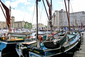 The marina in St. Katharine Dock, the only marina in central London