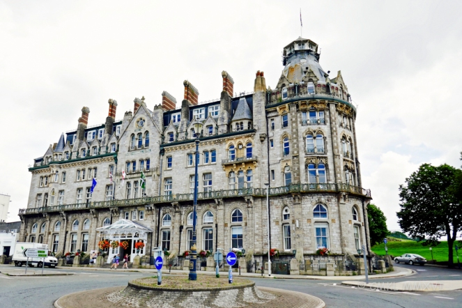 The majestic Duke of Cornwall hotel around the corner