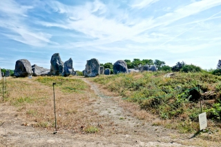 One can book guided tours to walk among the menhirs to some extend. But even then one may not step inside these fenced off areas meant to allow re-growth of vegetation that was overgrazed by local sheep.