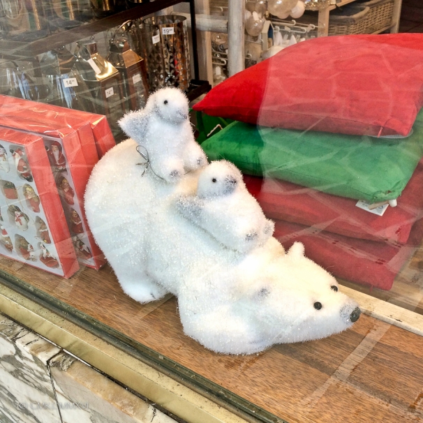 Many merchants have, sadly, adopted the ludicrous polar bear-penguin combo. AS if!! 😳