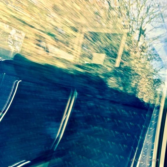 Speeding through the countryside ...