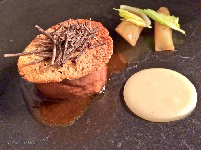Veal and julienned truffel