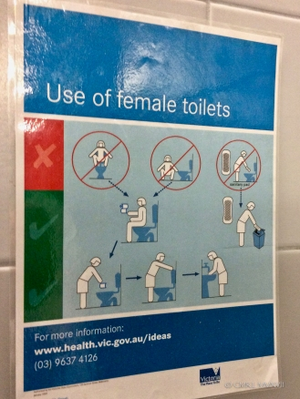 "Instructions for use of ""Female toilet"""