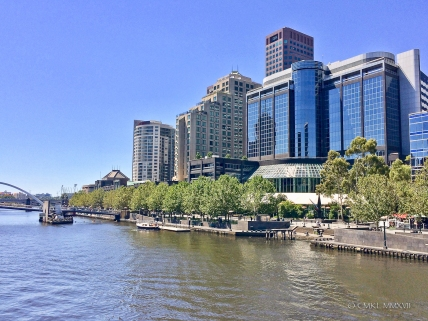 View from Sandridge bridge to Southbank