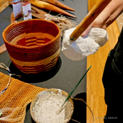 Ochre, prepared by a docent.