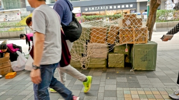 Merchandise deliveries, Hong Kong style.