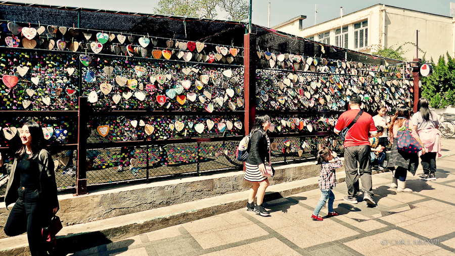Love locks have definitely reached Cheung Chau Island!