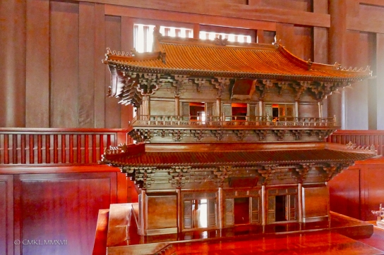This Temple has actually three levels, but the middle floor isn't visible from the outside.