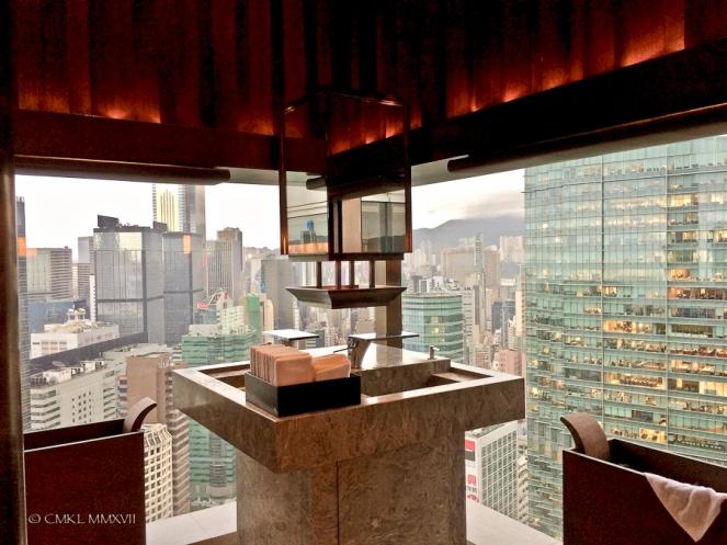 A most remarkable, elegant powder room,