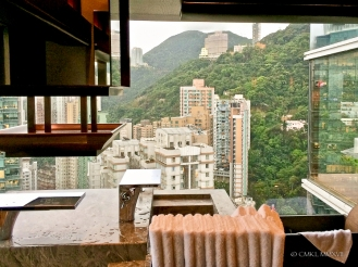 with absolutely crazy views all across HK Island.