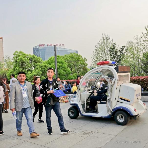 Off-duty tour guides.