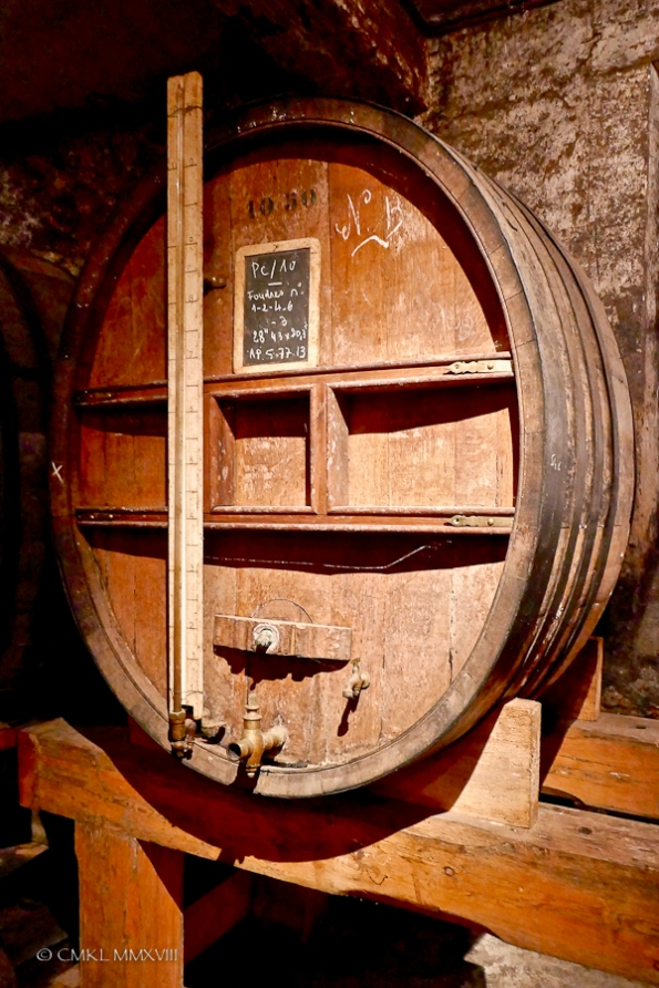 Whereas these large barrels are no longer in use - still, they look impressive!