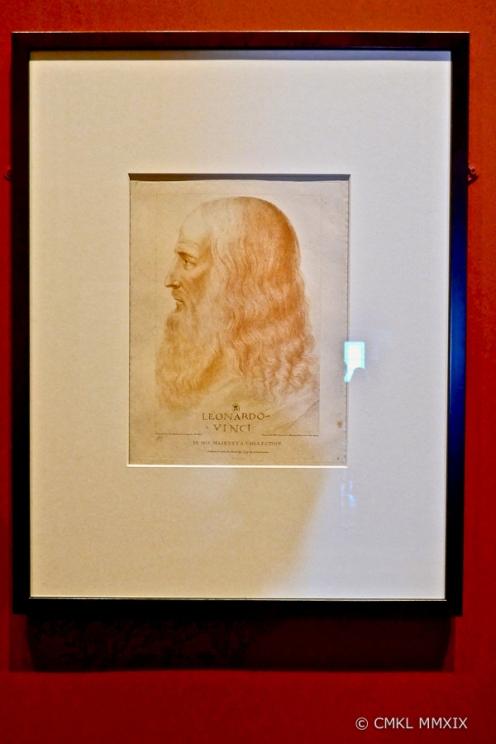 Portrait of Leonardo da Vinci by his apprentice and executor Francesco Melzi