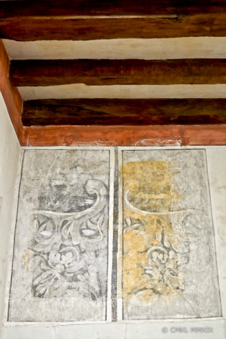 Remnants of frescos
