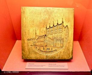 A wooden model