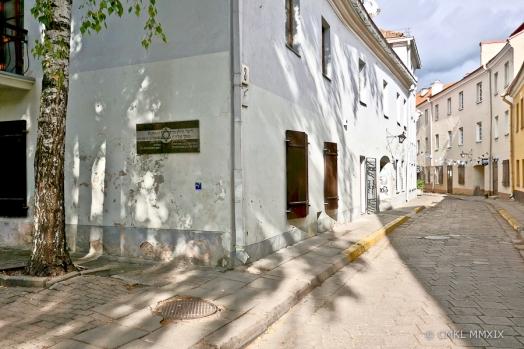 Žydų gatvė 3, the Gaon of Vilnius used to live here.