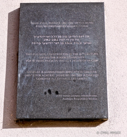 Memorial plaque on the Austrian Embassy wall.