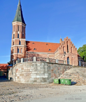 View of Vytautas' church from the river